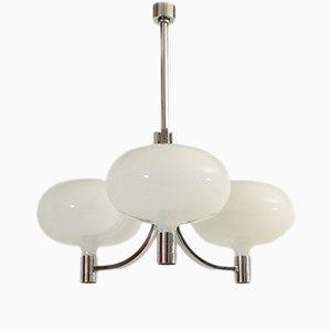 Lámpara de araña triple de Franco Albini para Sirrah, años 70