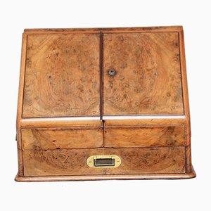 Antiker Schreibkasten aus Wurzel- & Nussholz