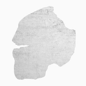 Silberner Korsberga Frozen Cut Teppich von Calle Henzel für Henzel Studio