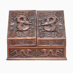 19th Century Chinese Carved Writing Slope
