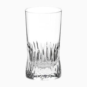 Handgefertigtes irisches Longdrinkglas aus Kristallglas aus Cuttings-Serie von Martino Gamper für J. HILL's Standard