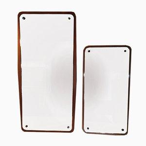 Vintage Spiegel mit Rahmen aus Teak von Fröseke Nybrofabriken, 2er Set