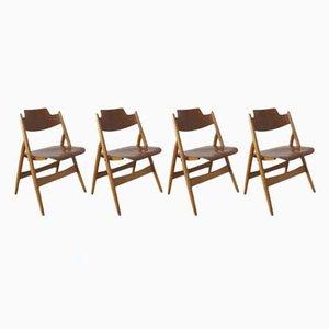 Chaises Pliantes Vintage par Egon Eiermann pour Wilde+Spieth, Set de 4