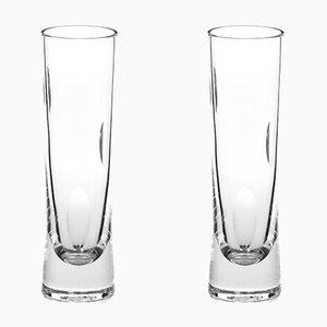 Handgefertigte irische Champagnerflöten aus Kristallglas aus Cuttings Serie von Martino Gamper für J. HILL's Standard, 2er Set