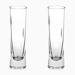 Irish Handmade Crystal Cuttings Series Champagne Glasses by Martino Gamper for J. HILL's Standard, Set of 2