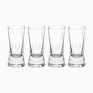 Irish Handmade Crystal Cuttings Series Shot Glasses by Martino Gamper for J. HILL's Standard, Set of 4