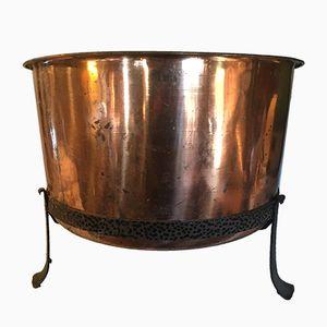 Barreño vintage grande de cobre