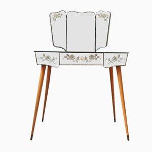 Table Coiffeuse Mid-Century en Miroir Vénitien