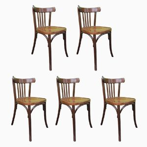 Vintage Bistro Chairs, Set of 5