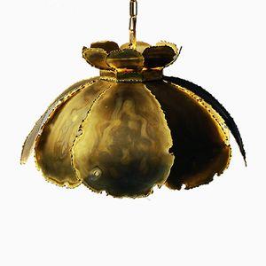 Model 6436 Brass Pendant Lamp by Svend Aage Holm Sørensen for Holm Sørensen & Co., 1960s