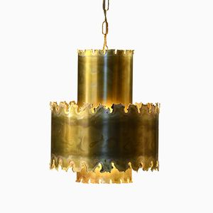 Model 6407 Brass Pendant Lamp by Svend Aage Holm Sørensen for Holm Sørensen & Co., 1960s