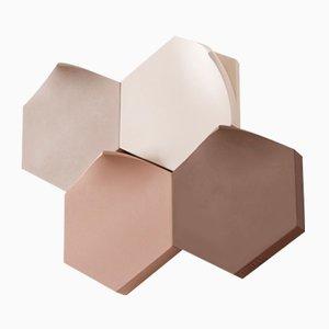 Jarrones de pared Teumsae en tonos cálidos de Extra&ordinary Design. Juego de 4