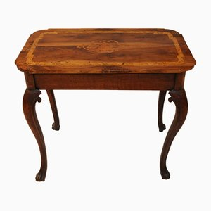 Antique Side Table with Marquetry