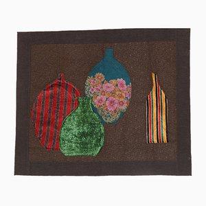 Vintage Wandteppich aus Samt & Seide