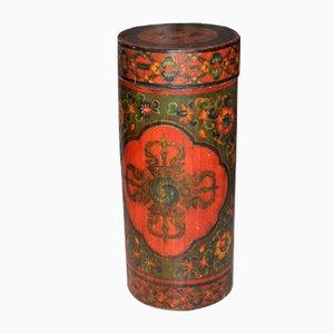 Antiker tibetanischer Getreidebehälter