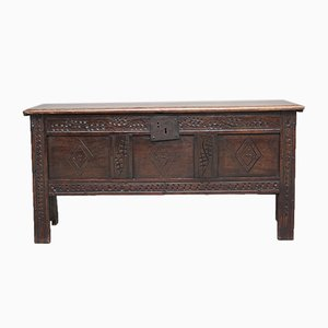 18th Century Oak Plank Coffer