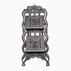 Portaoggetti in legno intagliato, Cina, metà XIX secolo