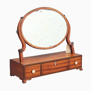 Satinwood Swivel Mirror, 1860s
