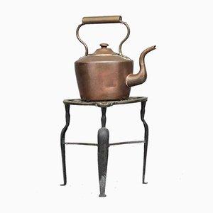 Wasserkessel aus Kupfer mit Standtisch, 1860er