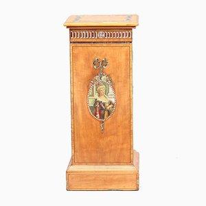 Pedestal antiguo de madera satinada