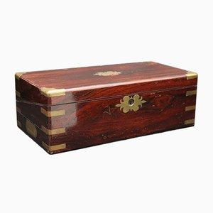 Caja de escritura de palisandro, década de 1840