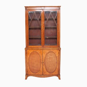 Antique Satinwood Display Cabinet