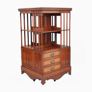 19th-Century Walnut Revolving Bookcase