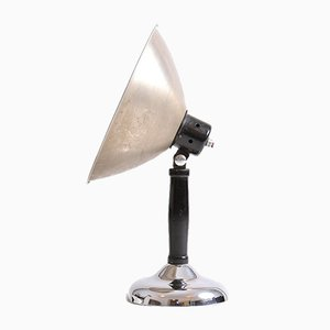Chrome and Metal Photo Table Lamp, 1930s