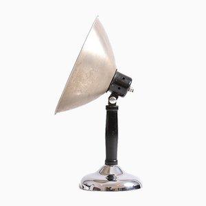 Lampada da tavolo in metallo e cromata, anni '30