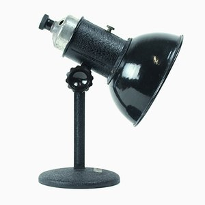 Industrial Black Metal Table Lamp, 1960s