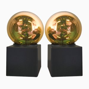 Lampade da tavolo o da parete cubiche vintage di Philips, anni '70, set di 2
