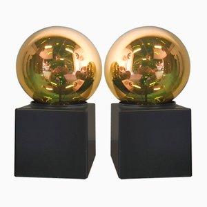 Würfelförmige Vintage Tisch- oder Wandlampen von Philips, 1970er, 2er Set