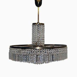 Lámpara de techo con cristales Swarovski, años 50