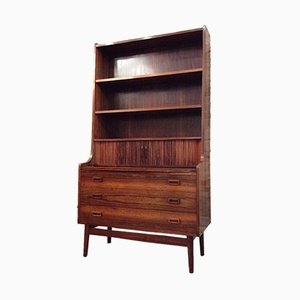 Vintage Rosewood Bookself-Secretaire by Johannes Sorth for Bornholms