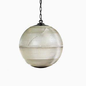 Grande Lampe à Suspension Vintage de Holophane