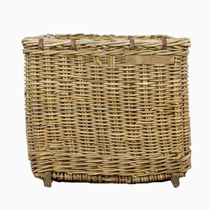 Antique French Wicker Basket