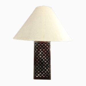 Lámpara de mesa geométrica, años 70