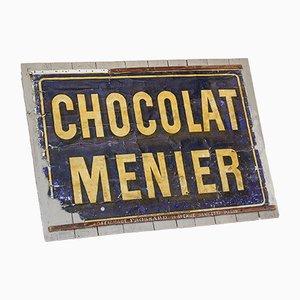 Antikes Chocolat Menier Werbeschild