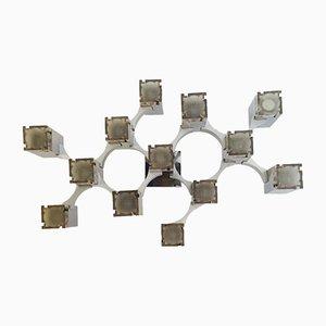 Applique Murale Cubique par Gaetano Sciolari pour Sciolari, 1960s