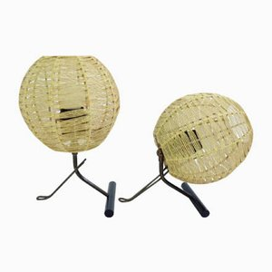 Adjustable Wall Lamps, 1950s, Set of 2