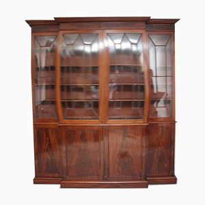 19th Century Mahogany Breakfront Bookcase