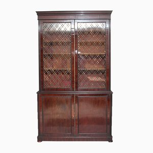 Large Regency Mahogany Bookcase