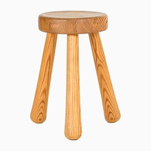 Pine Stool by Ingvar Hildingsson, 1940s