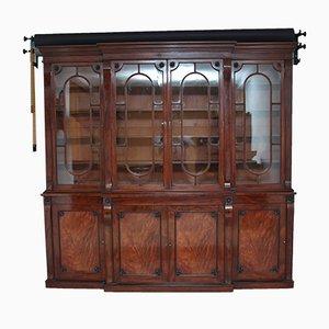 Mahogany Breakfront Bookcase, 1830s