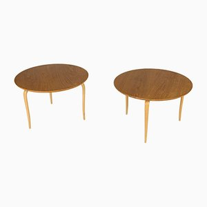 Annika Side Tables by Bruno Mathsson for Firma Karl Mathsson, 1976, Set of 2