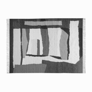 Tappeto bianco e nero di Simona Tavassi per Eugenia Pinna