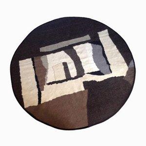 Runder schwarzweißer Teppich von Simona Tavassi für Eugenia Pinna