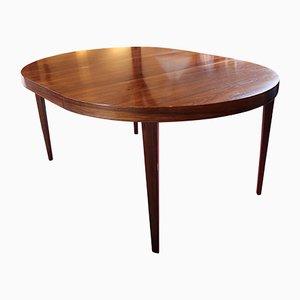 Mesa de comedor extensible de palisandro de Severin Hansen para Haslev, años 60