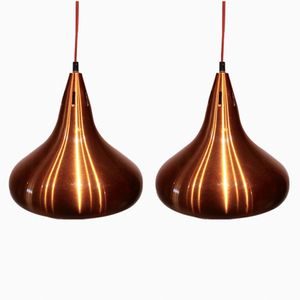 Danish Copper Pendants, 1960s, Set of 2