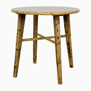 Table d'Appoint Mid-Century en Bambou